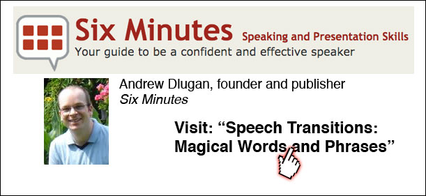 Speech transitions